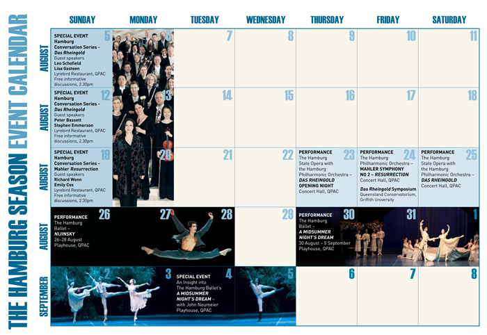 The Hamburg Season Events Calendar
