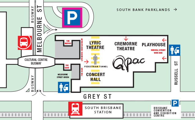 Map of QPAC - Dining